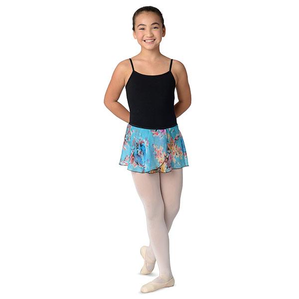 2614c blue flower print skirt danshuz