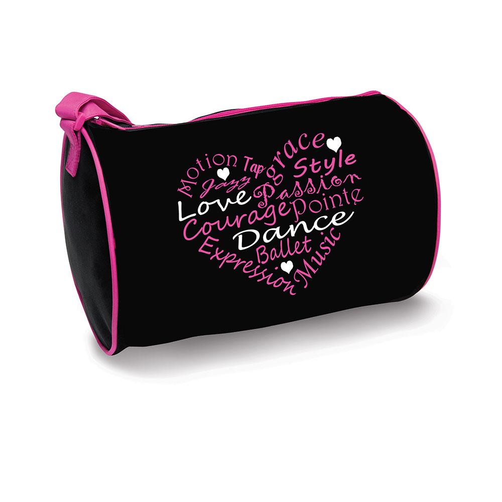 b730 dance words heart duffel danshuz